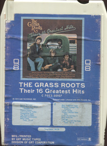 The Grass Roots: Their 16 Greatest Hits Quad 8 Track Tape