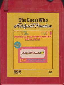 The Guess Who: Artificial Paradise Quad 8 Track Tape