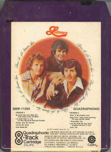THE LETTERMEN: There is No Greater Love Quad 8 Track Tape