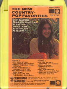 The New Country-Pop Favorites Quad 8 Track Tape