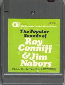 The Popular Sounds of Ray Conniff & Jim Nabors Quad 8 Track Tape