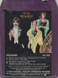 Tony Orlando & Dawn: To Be with You Quad 8 Track Tape
