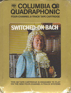 WALTER CARLOS: Switched-On Bach Sealed Quad 8 Track Tape