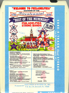 Welcome to Philadelphia - Best of the Mummers Philadelphia String Bands Vol. 56 Quad 8 Track Tape