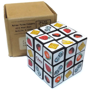 Vintage Ralston Purina Co. Chex Cereal Advertising Rubiks Cube Puzzle Toy in Box