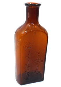 Antique Amber Glass Cork Top Malt Diastase Co. Medicine Bottle
