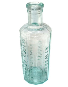 Antique Aqua Glass Atwood's Jaundice Bitters Moses Atwood Medicine Bottle