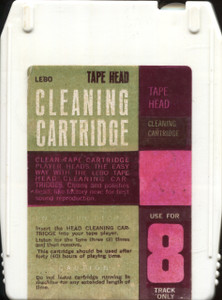 Vintage Lebo 8 Track Tape Player Head Cleaning Cartridge Head Cleaner Tape
