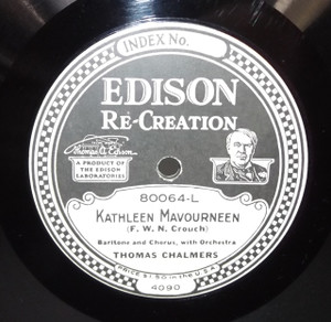 Thomas Chalmers: Kathleen Mavourneen /  Edison Mixed Quartet: Beautiful Isle of Somewhere - #80064 Edison Diamond Disc Record