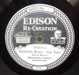 Atlantic Dance Orchestra: Georgette / Broadway Dance Orch. Haunting Blues - #51013 Edison Diamond Disc Record