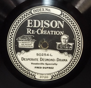 Fred Duprez: Happy Tho' Married / Desperate Desmond - #50254 Edison Diamond Disc