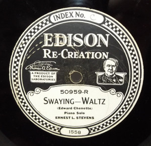 Henry W. Lange: Who (Believed in You) / Ernest L. Stevens: Swaying - #50959 Edison Diamond Disc Record