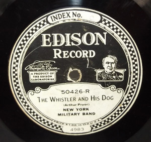 Sodero's Band: Simplicity - Intermezzo /  New York Military Band: The Whistler and His Dog - #50426 Edison Diamond Disc Record