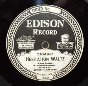 Ernest L. Stevens: Three O'Clock in the Morning Waltz / Hesitation Waltz - #51049 Edison Diamond Disc Record