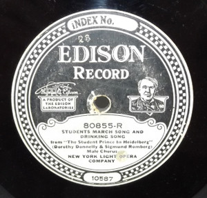 New York Light Opera Company: Serenade / Students March Song and Drinking Song - #80855 Edison Diamond Disc