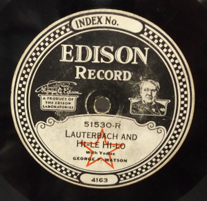 George P. Watson: Love's a Magic Spell and Snyder Does Your Mother Know You're Out /  Lauterbach and Hi-Le Hi-Lo - #51530 Edison Diamond Disc Record