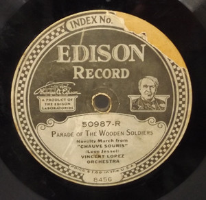 Ernest L. Stevens Trio: All Over Nothing At All / Vincent Lopez Orchestra: Parade of the Wooden Soldiers - #50987 Edison Diamond Disc Record