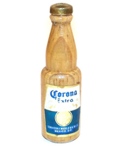 Vintage Corona Extra Beer Wooden Advertising Miniature Beer Bottle