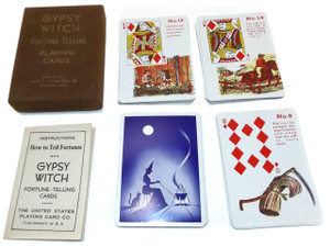 Vintage Gypsy Witch Fortune Telling Playing Cards Tarot Deck Game & Instructions