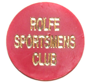 Vintage Rolfe Sportsmens Club Draft Beer Chip Token - Johnsonburg, PA