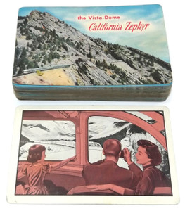 Vintage Deck of Playing Cards with Vista-Dome California Zephyr Train Graphics