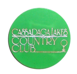 Vintage Beer Chip Drink Token from Cassadaga Country Club - Cassadaga, NY