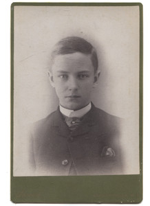 Antique Cabinet Card Photograph of Young Named Boy - Ellicottville, New York