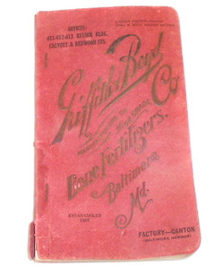 1922 Griffith & Boyd Bone Fertilizer Advertising Catalog Reference Book - Baltimore, MD
