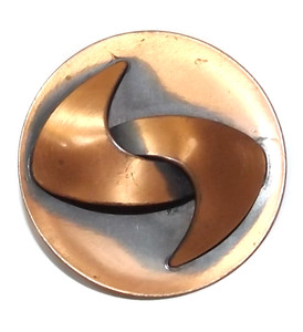 Vintage Mid-Century Modern Abstract Free Form Shape Brooch Copper Pin