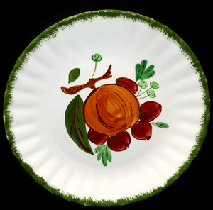 Copy of Vintage Hand-Painted Blue Ridge Pottery Country Fair Green Salad Plate -  Fruit