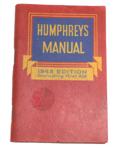 1948 Edition Humphreys Manual First Aid Remedy Medial Advertising Booklet