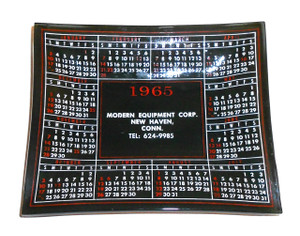 1965 Modern Equipment Corp. Advertising Trinket Tray - New Haven, CT