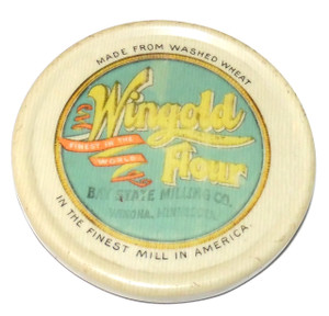 Antique Bay State Milling Co. Wingold Flour Celluloid Advertising Pocket Mirror