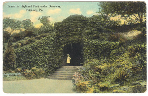 Tunnel in Highland Park Under Driveway RPPC - Pittsburg, PA
