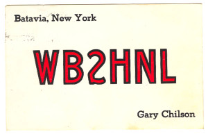 WB2HNL Ham Radio QSL Card - Batavia, New York