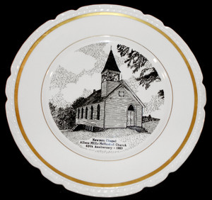 1953 Newman Chapel Methodist Church Anniversary Plate - Allens Mills, PA