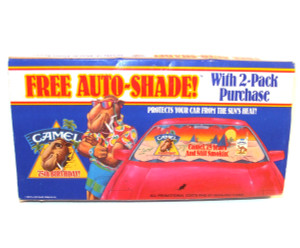 1988 Camel Cigarettes 75th Anniversary Advertising Car Windshield Auto-Shade - NOS