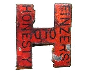 Finzers' Old Honesty Tin Tobacco Tag
