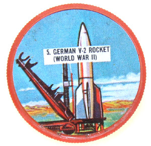 German V-2 Rocket World War II Plastic Collector Trading Coin Card