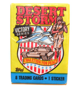 Pack 1991 Desert Storm Victory Series Gulf War Trading Cards Unopened