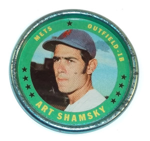 1971 Topps Art Shamsky New York Mets Baseball Coin #43