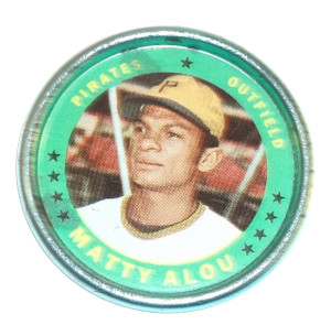 1971 Topps Matty Alou Pittsburgh Pirates Baseball Coin #47