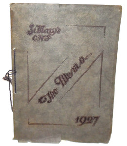 1927 The Memo, St. Mary's Catholic / Elk County Christian High School Yearbook - St. Marys, PA