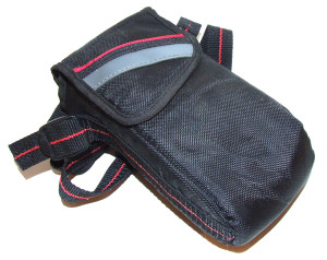 Black Nylon Padded Point & Shoot Camera Carry Case Pouch With Strap