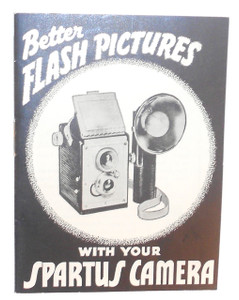 Better Flash Pictures with Your Spartus Film Camera Vintage Original Instruction Manual Book