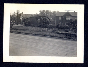 1940's PRR Pennsylvania Railroad Train Crash Wreck Coal Car Photo