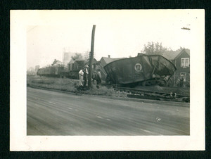 Late 1940's PRR Pennsylvania Railroad Train Wreck Photo Twisted Coal Car