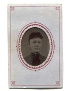 Antique 1/16 Plate Tintype Photograph of Victorian Woman with Pearl Necklace