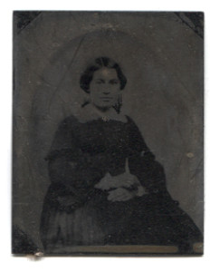 Antique 1/9 Plate Tintype Photograph of Pleasant Looking Victorian Woman