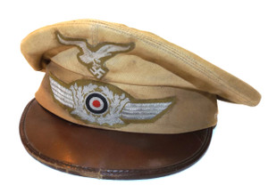 Nazi Germany Luftwaffe Officer Cap WW2 Military Uniform Hat w/ Eagle & Swastika